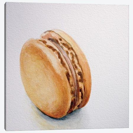 Caramel Macaron Canvas Print #JRE10} by Jennifer Redstreake Canvas Art