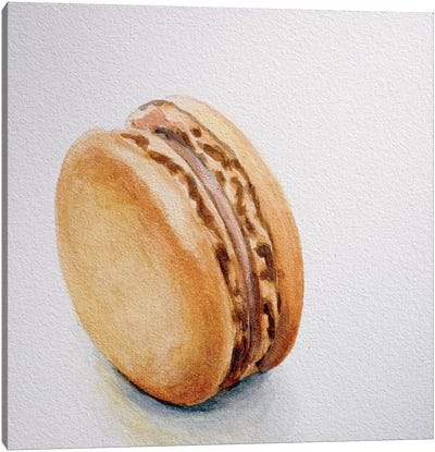 Caramel Macaron Canvas Print #JRE10