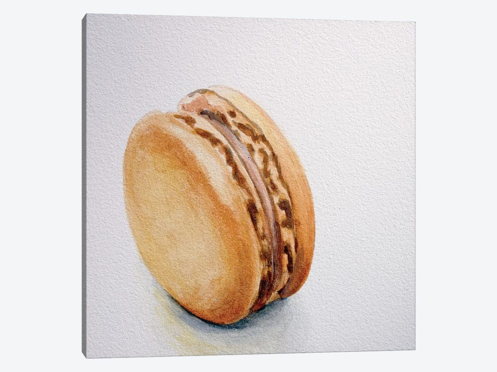 Caramel Macaron by Jennifer Redstreake 1-piece Canvas Artwork