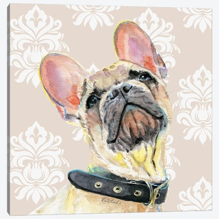 French Bulldog Canvas Print #JRE115} by Jennifer Redstreake Canvas Wall Art