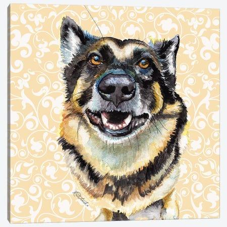 German Shepherd Canvas Print #JRE116} by Jennifer Redstreake Canvas Wall Art