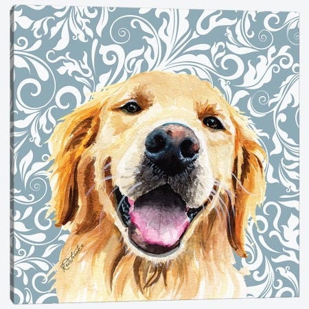 Golden Retriever Canvas Print #JRE118} by Jennifer Redstreake Canvas Print