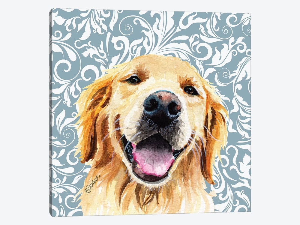 Golden Retriever by Jennifer Redstreake 1-piece Canvas Art Print