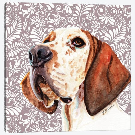 Great Dane Canvas Print #JRE119} by Jennifer Redstreake Art Print
