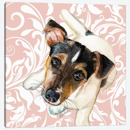 Jack Russell Terrier Canvas Print #JRE120} by Jennifer Redstreake Canvas Wall Art