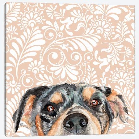 Rottweiler Canvas Print #JRE128} by Jennifer Redstreake Canvas Wall Art
