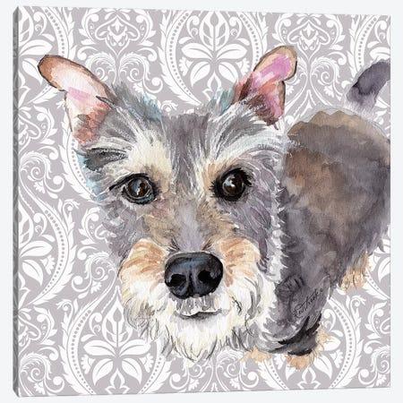 Scottish Terrier Canvas Print #JRE129} by Jennifer Redstreake Canvas Artwork