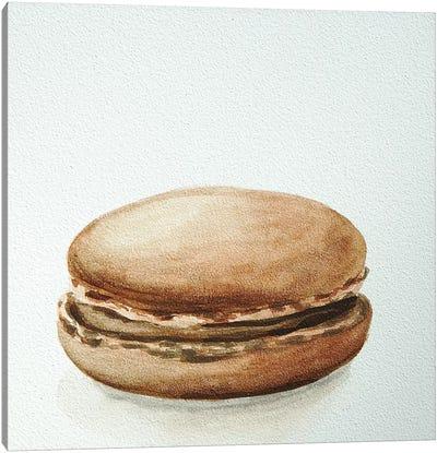 Chocolate Macaron Canvas Print #JRE12