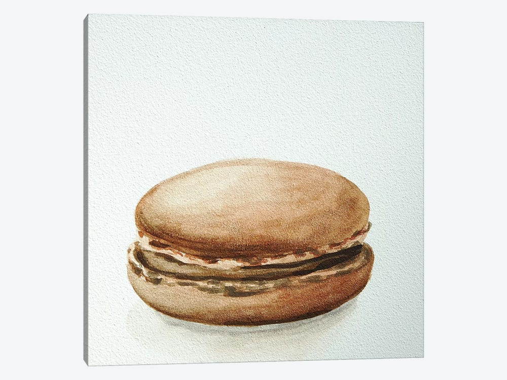 Chocolate Macaron by Jennifer Redstreake 1-piece Canvas Artwork