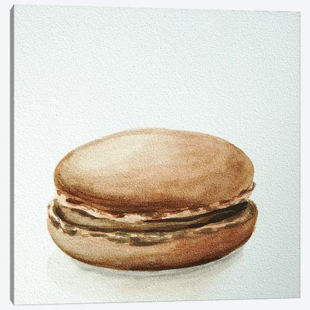 Chocolate Macaron Canvas Print #JRE12} by Jennifer Redstreake Canvas Artwork