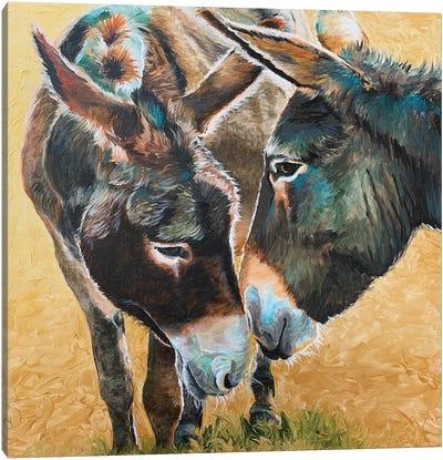 Donkey Friends Canvas Art Print
