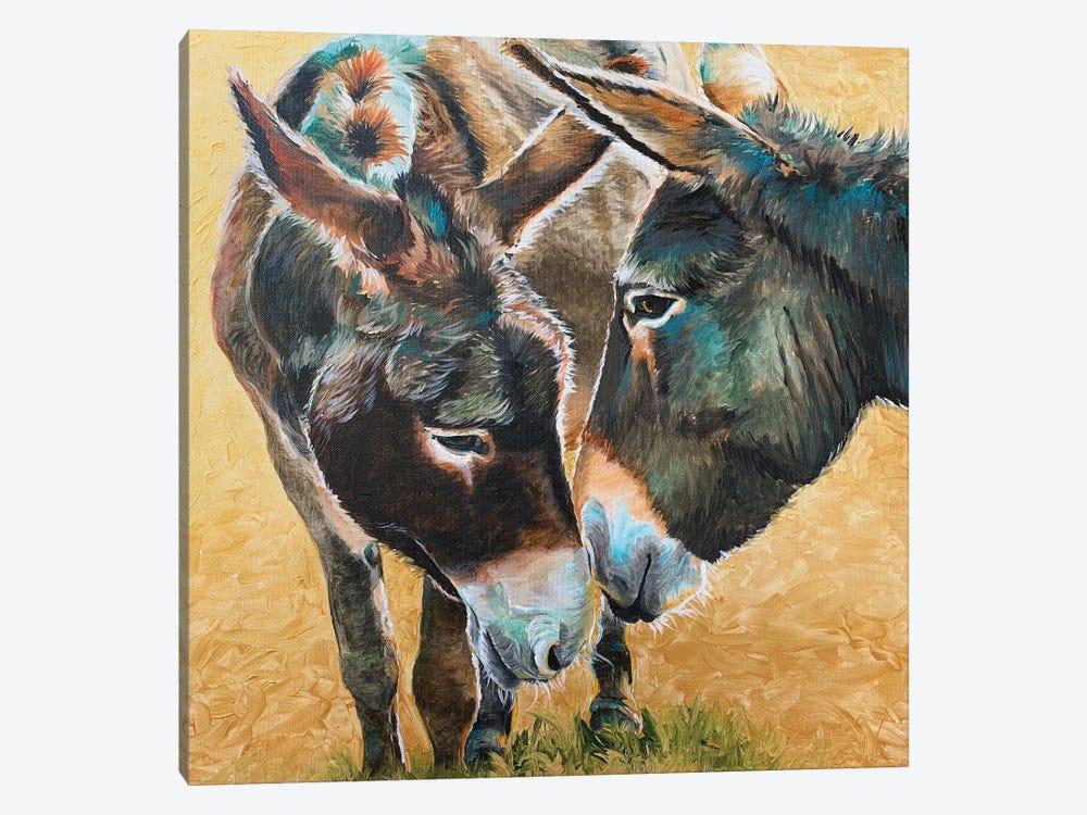 Donkey Friends by Jennifer Redstreake 1-piece Canvas Artwork