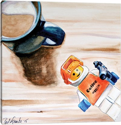 Coffee Hi Canvas Art Print