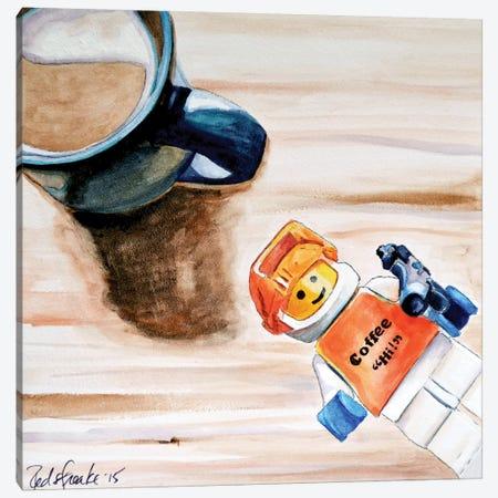Coffee Hi Canvas Print #JRE13} by Jennifer Redstreake Canvas Wall Art
