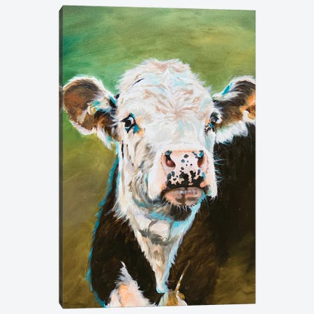 Cow Portrait 3-Piece Canvas #JRE140} by Jennifer Redstreake Canvas Art
