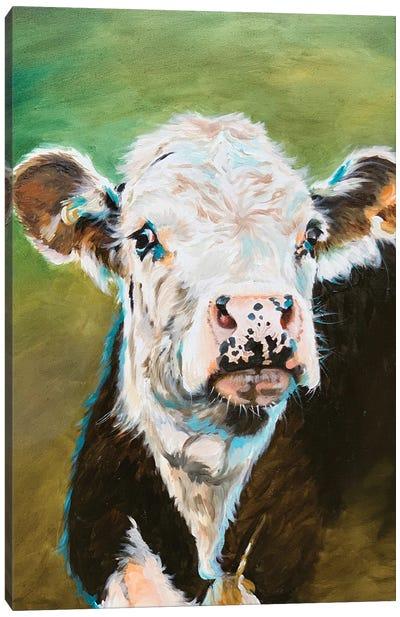 Cow Portrait Canvas Art Print