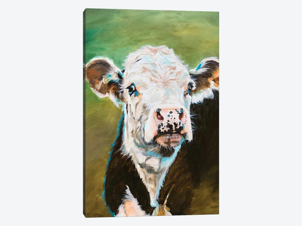 Cow Portrait by Jennifer Redstreake 1-piece Canvas Artwork