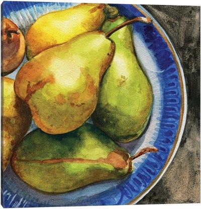 Parisian Pears Canvas Art Print