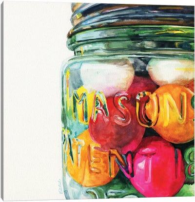 Jar Of Gumballs Canvas Art Print