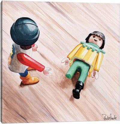 Where's Your Leg Canvas Print #JRE14