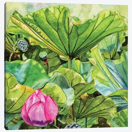 Japanese Lilies Canvas Print #JRE150} by Jennifer Redstreake Art Print