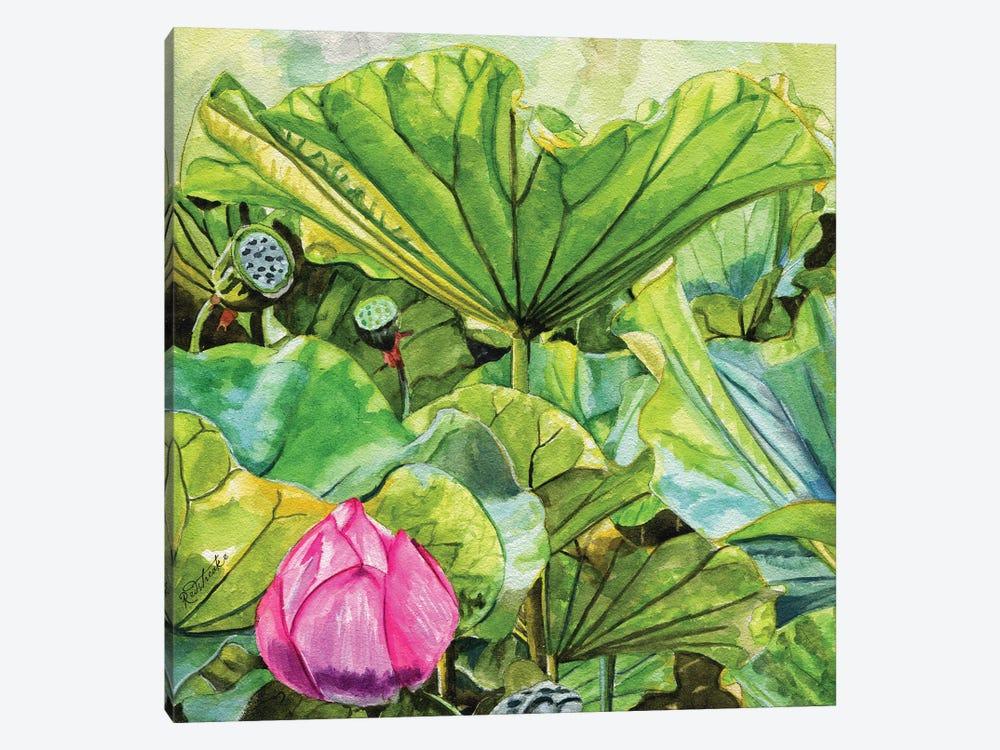 Japanese Lilies by Jennifer Redstreake 1-piece Canvas Print