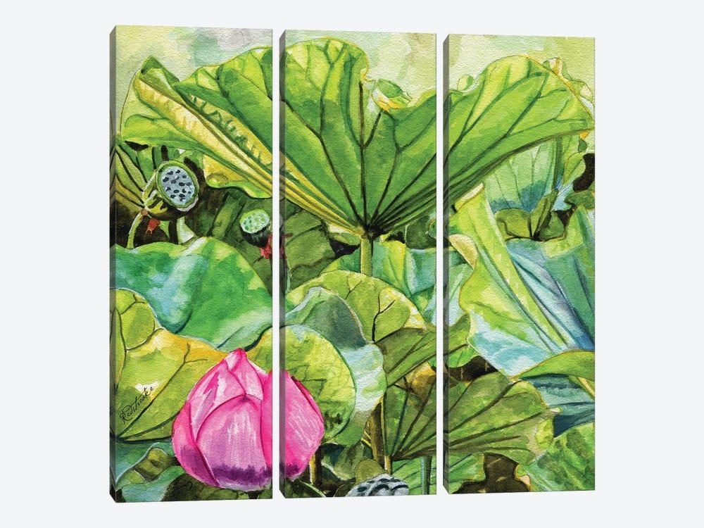 Japanese Lilies by Jennifer Redstreake 3-piece Canvas Art Print