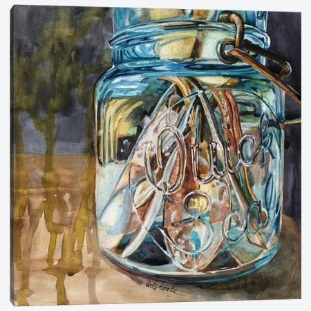 Jar With Antique Spoons Canvas Print #JRE152} by Jennifer Redstreake Canvas Art Print