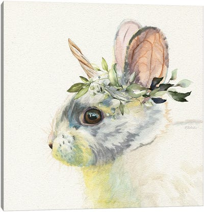 Mythical Woodland Bunny Canvas Art Print
