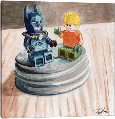 Heroes Chillin Canvas Art Print
