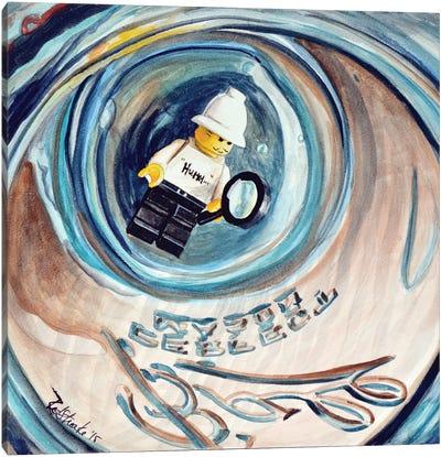 Hummm Stuck In Jar Canvas Print #JRE16