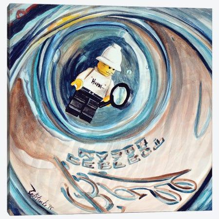 Hummm Stuck In Jar Canvas Print #JRE16} by Jennifer Redstreake Canvas Art Print