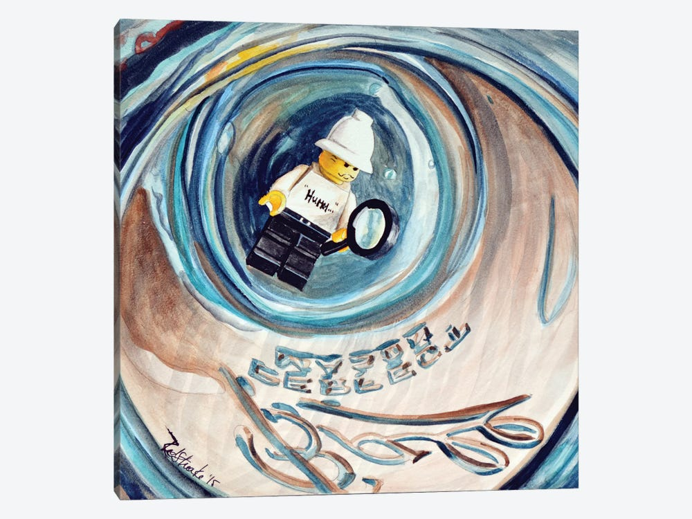 Hummm Stuck In Jar by Jennifer Redstreake 1-piece Canvas Art