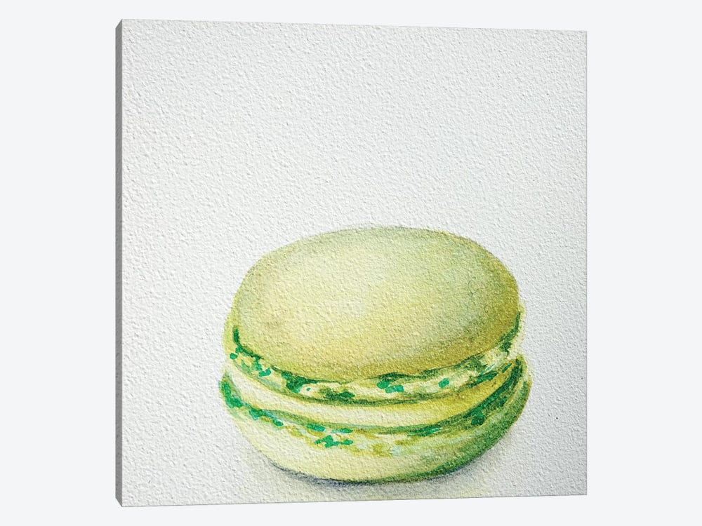 Lime Macaron by Jennifer Redstreake 1-piece Canvas Wall Art