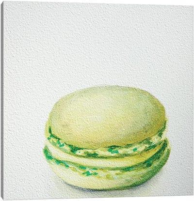 Lime Macaron Canvas Art Print