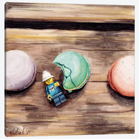 Macaron Yum Canvas Print #JRE19} by Jennifer Redstreake Canvas Artwork