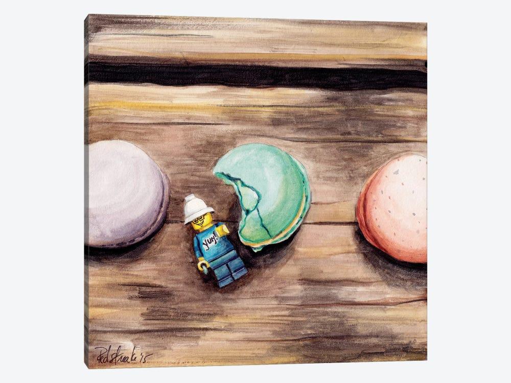 Macaron Yum by Jennifer Redstreake 1-piece Canvas Print