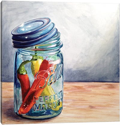Having A Ball With Chilis I Canvas Print #JRE22