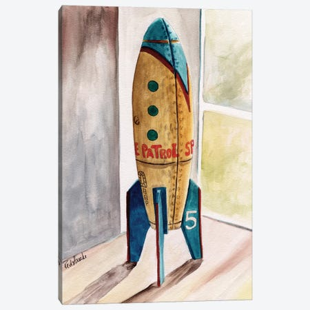 Space Patrol Canvas Print #JRE28} by Jennifer Redstreake Canvas Art Print