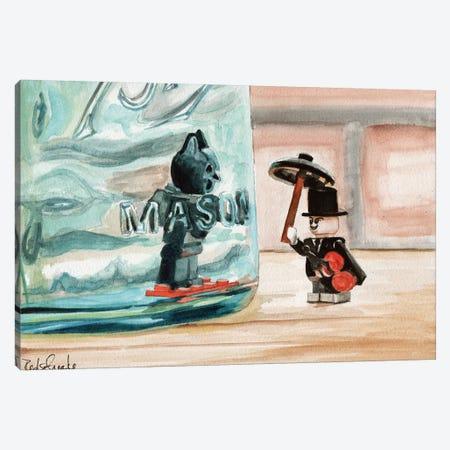 The Hero Trapped Canvas Print #JRE30} by Jennifer Redstreake Canvas Artwork