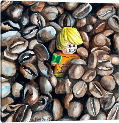 The Great Coffee Bean Escape Canvas Art Print