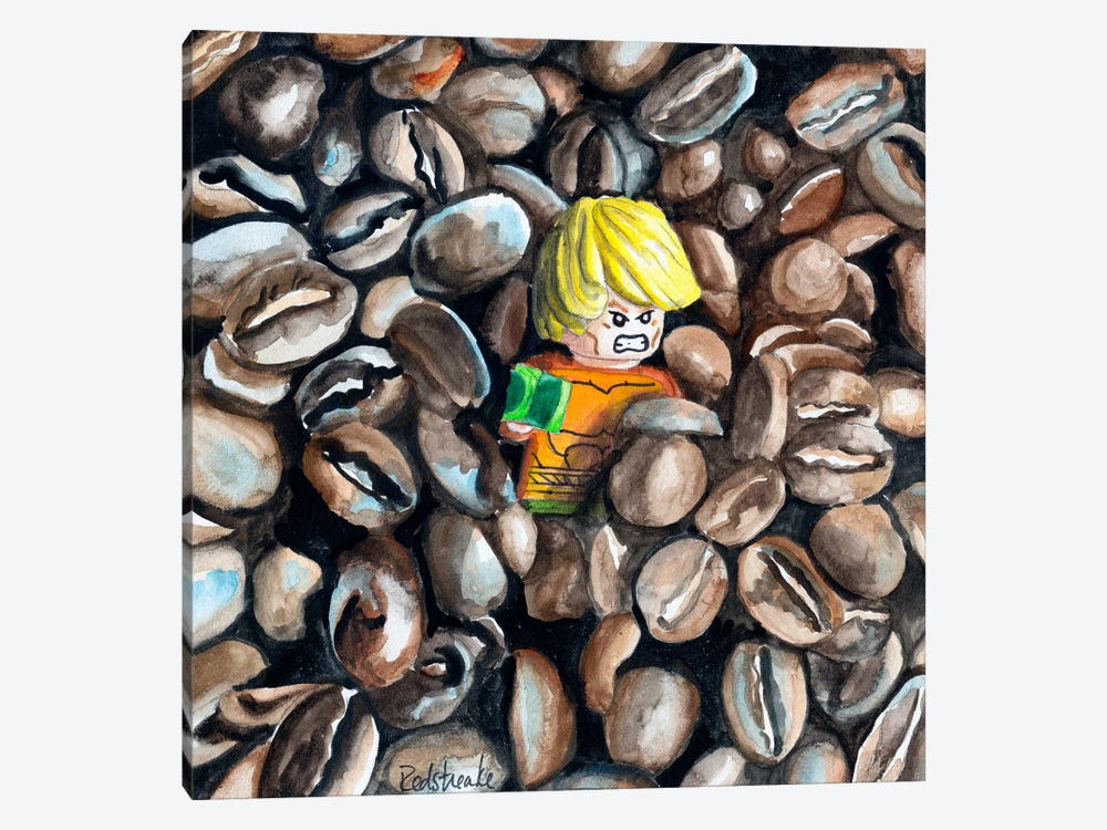 The Great Coffee Bean Escape 1-piece Canvas Art