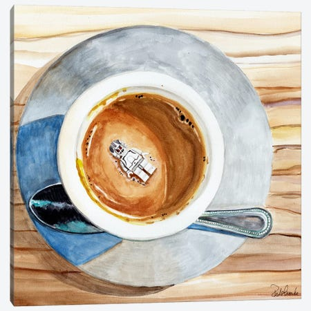 Happy Death By Coffee Canvas Print #JRE34} by Jennifer Redstreake Canvas Art Print