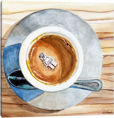 Happy Death By Coffee Canvas Print #JRE34