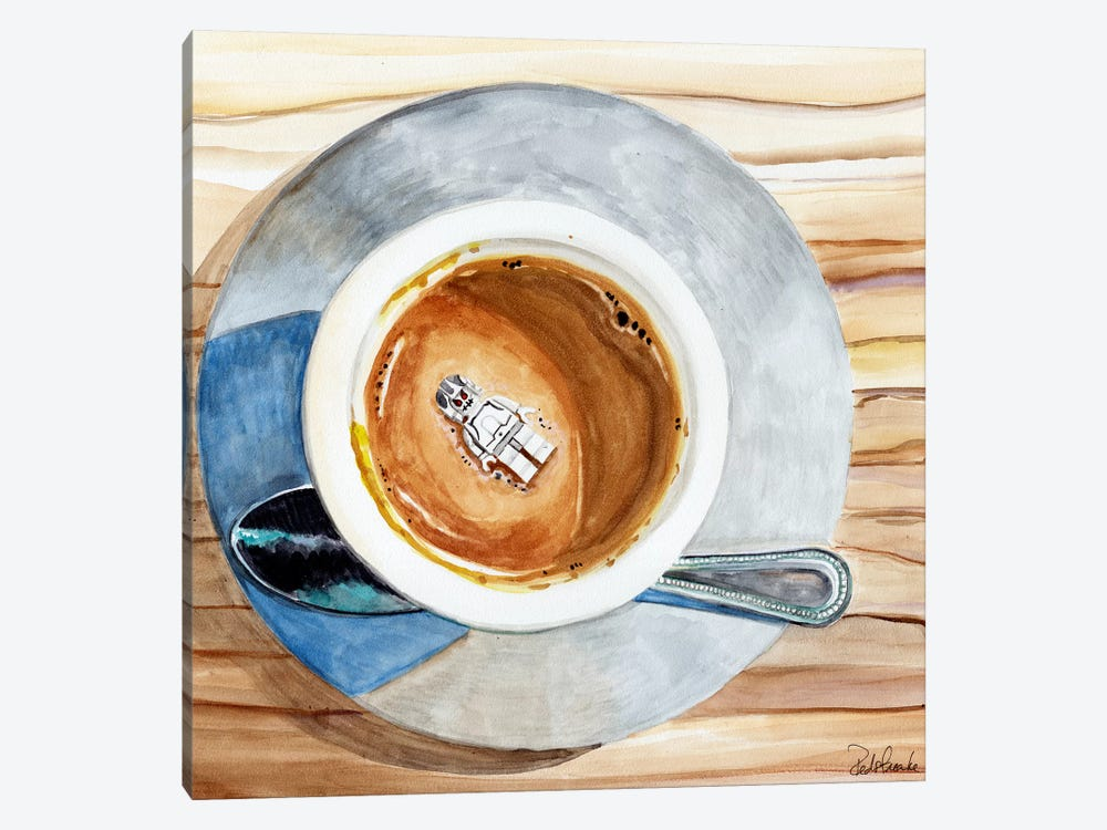 Happy Death By Coffee by Jennifer Redstreake 1-piece Canvas Artwork