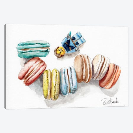 Macaron Heaven Canvas Print #JRE35} by Jennifer Redstreake Canvas Art Print