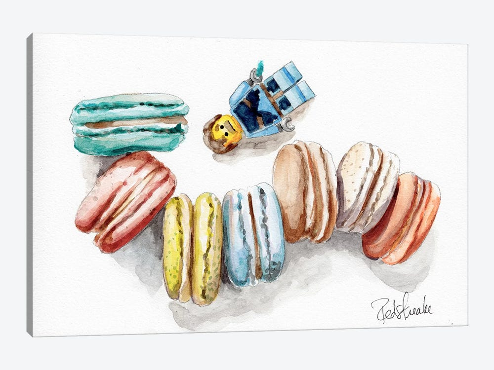 Macaron Heaven by Jennifer Redstreake 1-piece Canvas Print