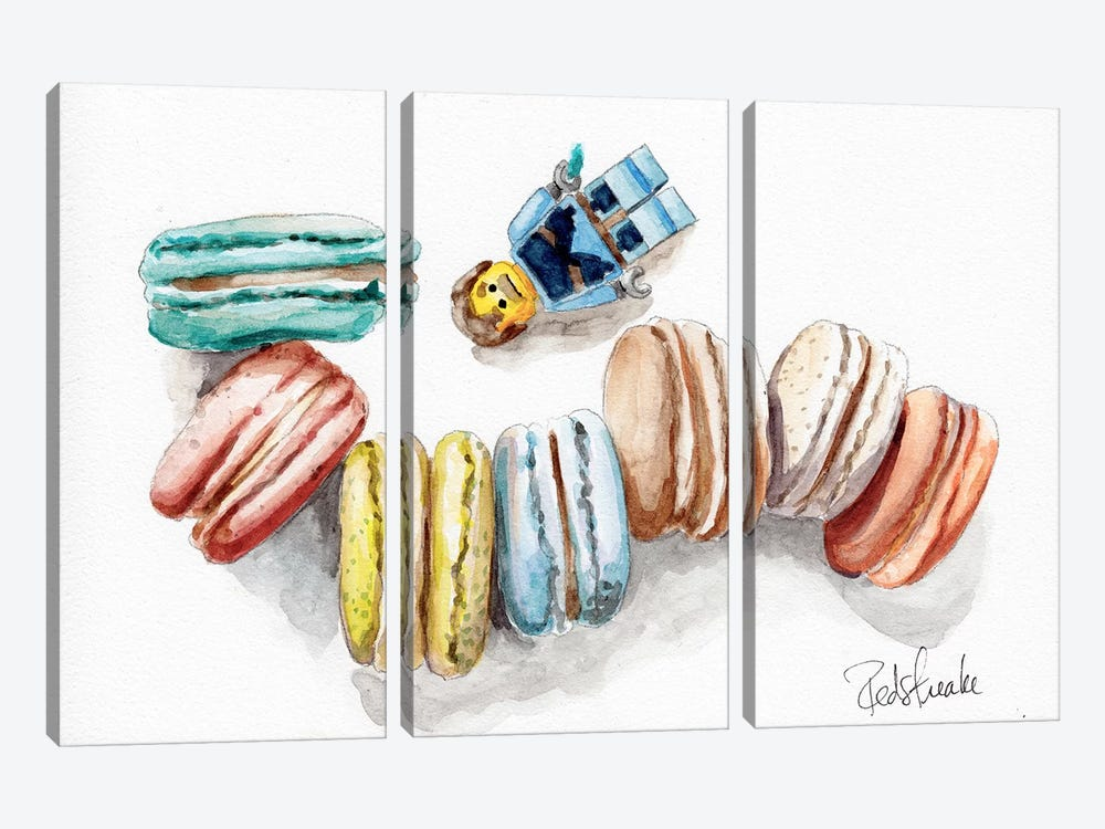 Macaron Heaven by Jennifer Redstreake 3-piece Canvas Print