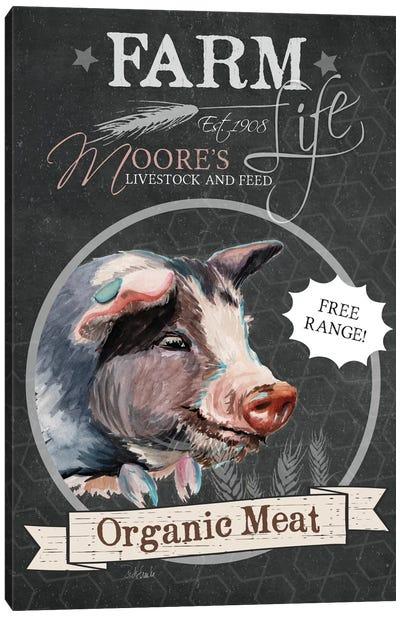 Chalkboard Series: Organic Meat Canvas Print #JRE44