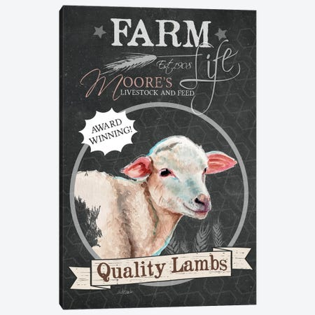 Chalkboard Series: Quality Lambs Canvas Print #JRE45} by Jennifer Redstreake Canvas Artwork